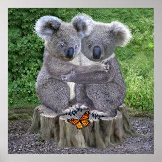 Urso de Koala Huggies do bebê Pôster