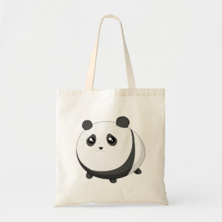 Urso de panda carnudo bonito de Kawaii Bolsas De Lona