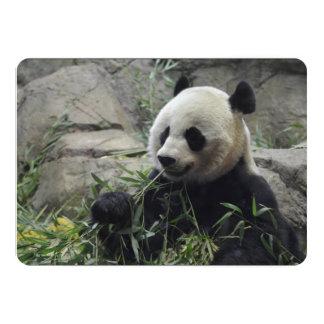 Urso de panda chinês gigante convite 12.7 x 17.78cm