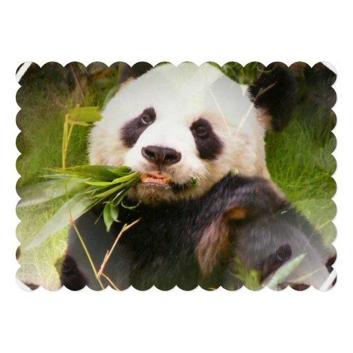 Urso de panda convite personalizado
