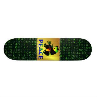 Urso de panda da paz shape de skate 18,4cm