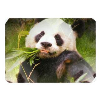 Urso de panda gigante convite 12.7 x 17.78cm