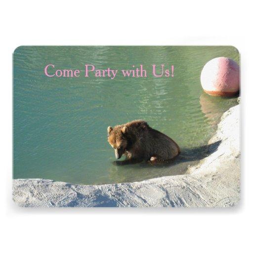 Urso de um convite de festas