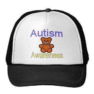 urso de ursinho da consciência do autismo com fita boné