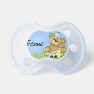 Urso de ursinho do bebé a personalizar chupeta para bebê