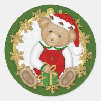 Urso de ursinho do Natal - menino Adesivo