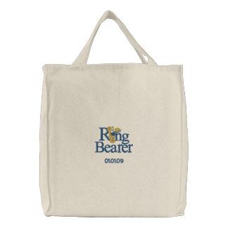 Urso de ursinho do portador de anel bolsa de lona