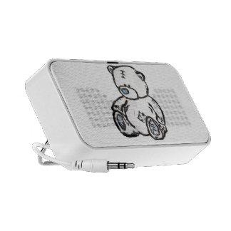 Urso de ursinho do sótão caixinhas de som para laptop