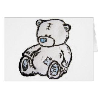 Urso de ursinho do sótão cartao