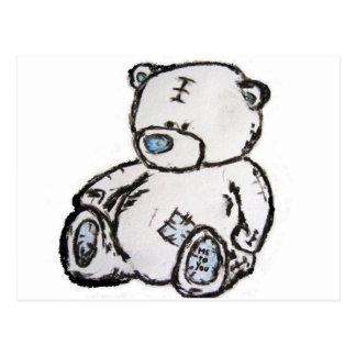 Urso de ursinho do sótão cartão postal