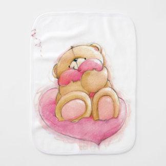 Urso de ursinho e bolinhas/pano do Burp Paninhos Para Bebês