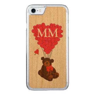 urso de ursinho e coração do amor capa para iPhone 7 carved