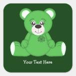 Urso de ursinho irlandês adesivos quadrados