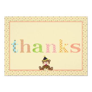 Urso de ursinho Notecard dos obrigados Convite 12.7 X 17.78cm