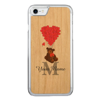 Urso de ursinho romântico do divertimento capa iPhone 7 carved