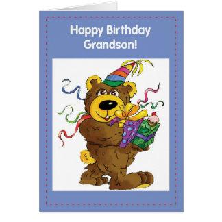 Urso do aniversário de 2708 netos cartao