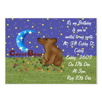 Urso do Cubby Convite 12.7 X 17.78cm