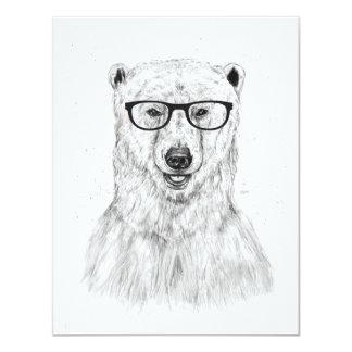 Urso do geek convite 10.79 x 13.97cm