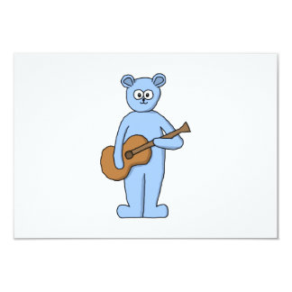 Urso do guitarrista convite 8.89 x 12.7cm