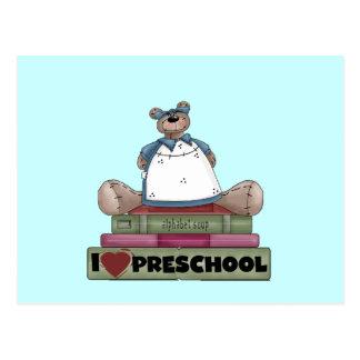Urso eu amo o camiseta e presentes prées-escolar cartão postal