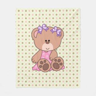 Urso feito sob encomenda da menina cobertor de lã