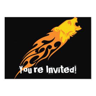 Urso flamejante #1 convite 12.7 x 17.78cm