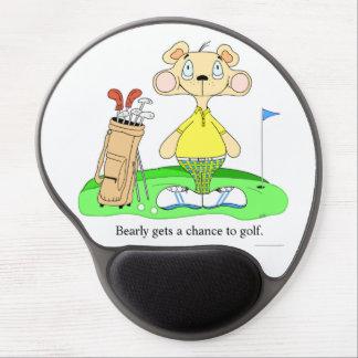 Urso Golfing engraçado bonito Mousepad Mouse Pad Em Gel