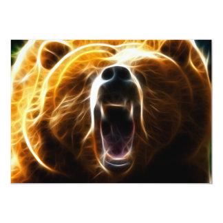 Urso louco convite 12.7 x 17.78cm