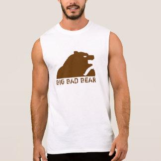 Urso mau grande (Brown) Camisa Sem Manga