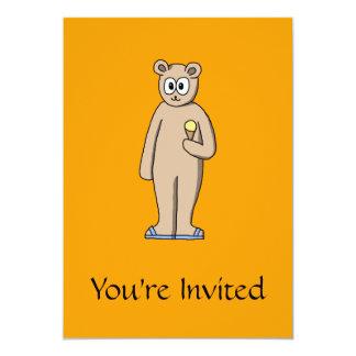 Urso no verão convite 12.7 x 17.78cm
