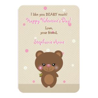 Urso pequeno doce convite 8.89 x 12.7cm