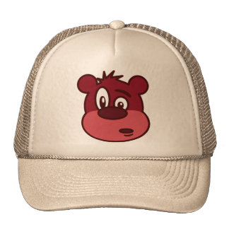 Urso pisc engraçado bonito boné