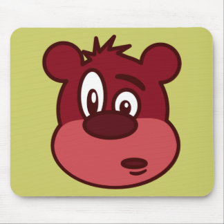 Urso pisc engraçado bonito mouse pad