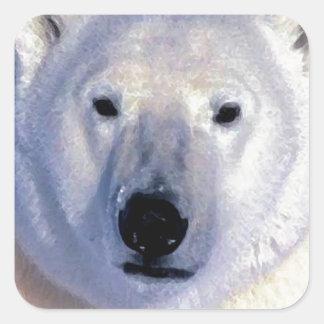 Urso polar adesivo quadrado