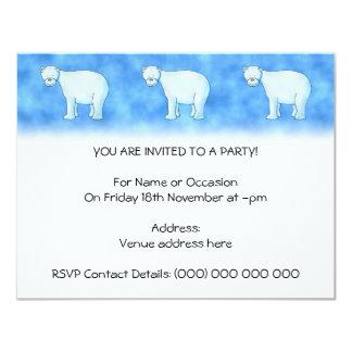 Urso polar convite 10.79 x 13.97cm