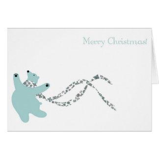Urso polar de dança cartão comemorativo
