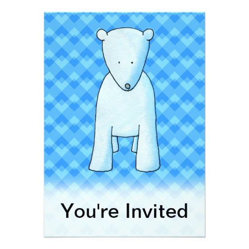 Urso polar do bebê bonito convites personalizado