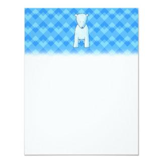 Urso polar do bebê bonito convite 10.79 x 13.97cm