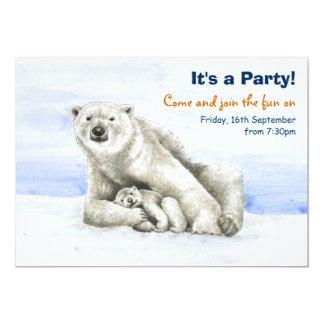 Urso polar e convite de festas de Cub Convite 12.7 X 17.78cm