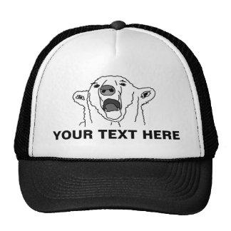 Urso polar e seu texto boné