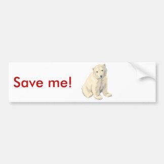 Urso polar psto em perigo adesivo para carro
