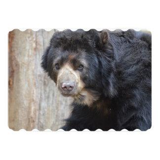 Urso preto adorável convite 12.7 x 17.78cm