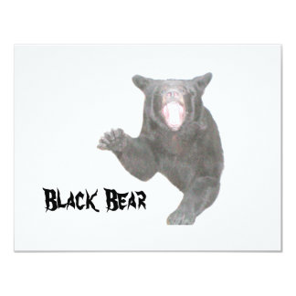Urso preto convite 10.79 x 13.97cm