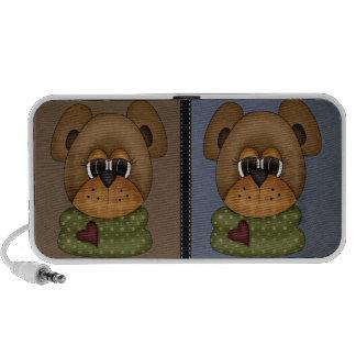 Urso retro do país da arte popular caixinhas de som para iPhone