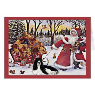 Ursos do cartão de Natal do Spaniel de Springer