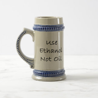 Use o óleo do álcool etílico não caneca de cerveja