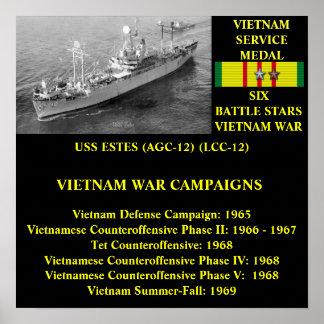 USS ESTES (AGC-12)/(LCC-12) POSTERES