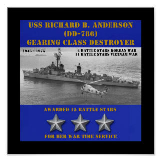 USS Richard B. Anderson (DD-786) Pôsteres