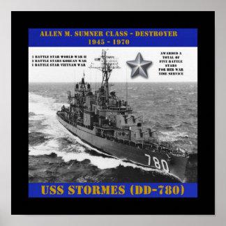 USS Stormes (DD-780) Poster