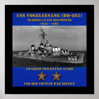 USS Vogelgesang DD-862 Impressão